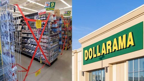 Ontario Dollaramas Have So Many Aisles Blocked Off & A Big List Of Things They Can't Sell