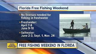 Fish without a license in Florida this weekend - Video