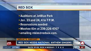 Red Sox seeking singers for Spring Training National Anthem