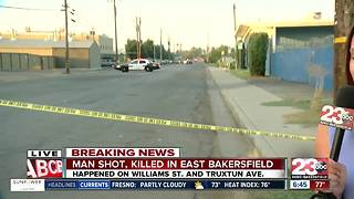 Shooting in East Bakersfield leaves one man dead - Video