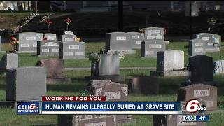 Human remains illegally buried at grave site in Owen County - Video