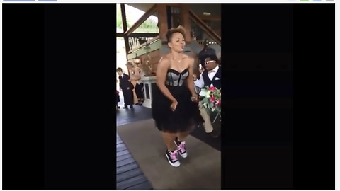 This Wedding Party Wowed Guests With Their Epic Dancing Entrance