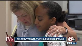 Girl survives battle with blinding brain tumor - Video