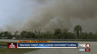 Tracking Forest Fires Across Southwest Florida - Video