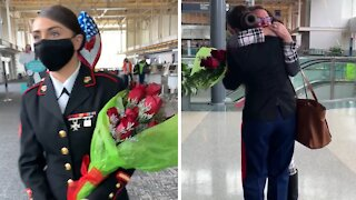 Emotional military homecoming surprise after 14 months of being away