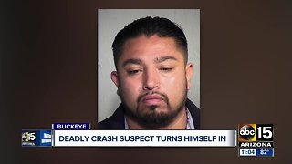 Deadly crash suspect turns self in