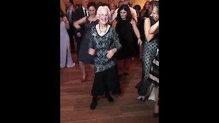 96-year-old woman is a dancing machine!