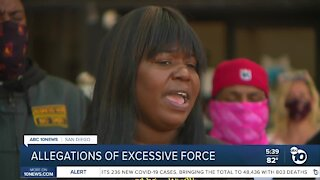 Allegations of excessive force