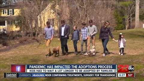 Pandemic has impacted the adoptions process, kids had to wait longer to be adopted by families