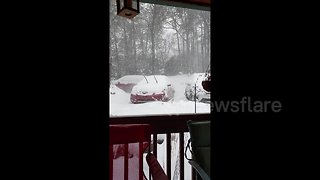 Winter storm brings significant snowfall to southeastern states - Video