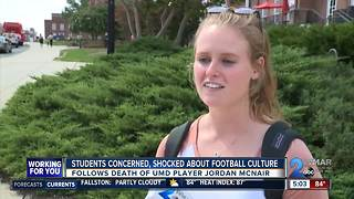 UMD students react to football fall out