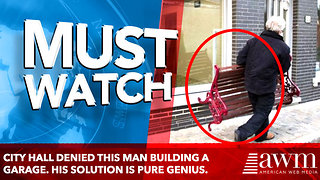 City Hall Denied This Man Building A Garage. His Solution Is Pure Genius. - Video