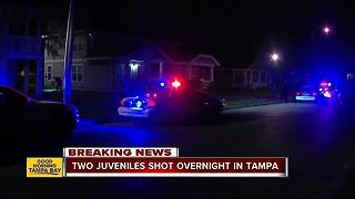 Two juveniles shot in East Tampa - Video