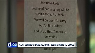 Ohio bars, restaurants respond after being ordered to close amid growing coronavirus concerns