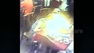 Burner on restaurant table explodes burning diner's hair