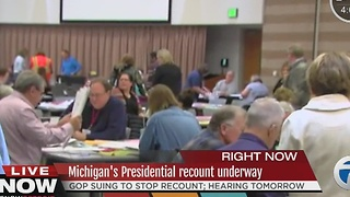 Presidential recount underway in Michigan