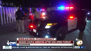 Couple arrested after chase in North County