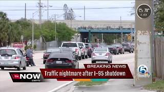 Traffic nightmare after I-95 shutdown - Video