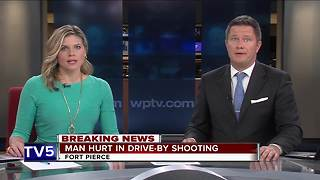 Fort Pierce drive-by shooting injures man - Video