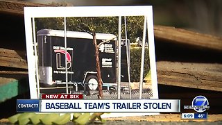 Baseball team's trailer stolen - Video
