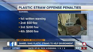 Sanibel bans plastic straws - Video