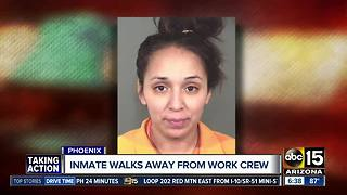 Authorities are searching for an inmate who walked away from a work crew in Phoenix - Video
