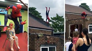 Real life spiderman films himself doing series of impressive stunts - Video