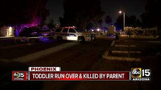 Phoenix child run over, killed by parent - Video