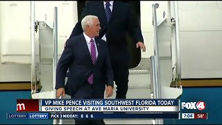 V.P. Mike Pence will give a speech at Ave Maria University in Collier County