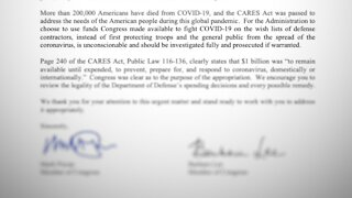 House Wants Investigation of Pentagon's COVID-19 Spending