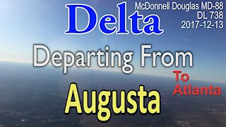 Takeoff from Augusta in MD88 Delta #DL738