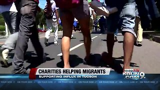 Local charities helping support influx of migrants in Tucson - Video