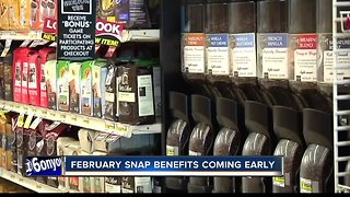 Food stamp recipients will receive their February allowance Jan. 20