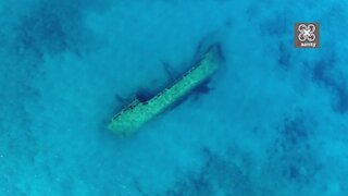 Greek drone footage captures eerie Turkish shipwreck in exotic waters
