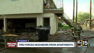 Phoenix apartment fire displaces several families - Video