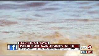 Public beach swim advisory issued due to Irma - Video
