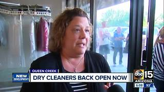 Customers at San Tan Valley dry cleaners asking for their items back - Video