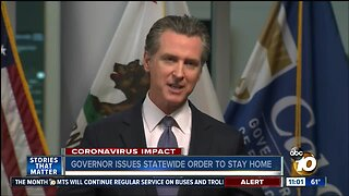 Governor issues statewide order to stay home
