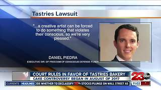 Judge rules in favor of California baker who refused to design wedding cake for same-sex couple - Video