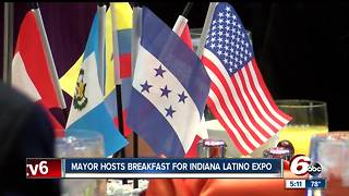 Indianapolis mayor hosts breakfast for Indiana Latino Expo - Video
