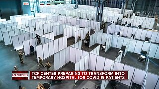 TCF enter preparing to transform into temporary hospital for COVID-19 patients