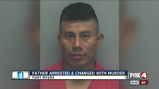 Father arrested, charged with murder