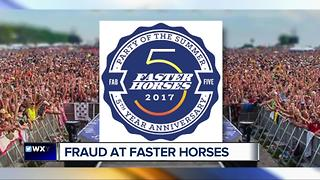 Complaints about credit card fraud at Faster Horses - Video
