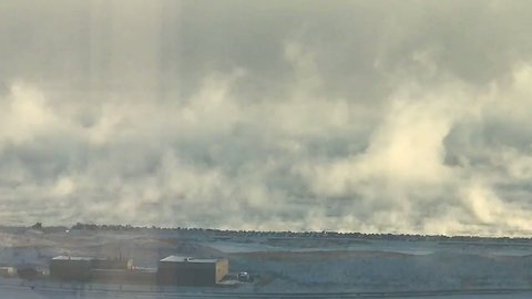 'Wall of Ice Steam' Rises From Lake Michigan as Polar Vortex Hits Chicago