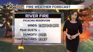 River Fire continues to burn near Eloy