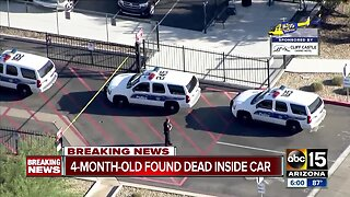 4-month-old found dead inside car