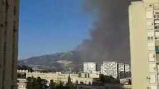 Sky Darkens with Smoke as Wildfires Rage in Split, Croatia - Video