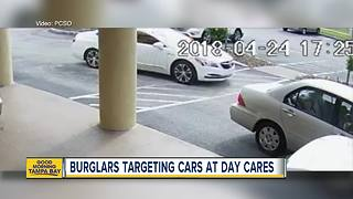 Thieves targeting locked cars parked at Pasco County day care centers - Video
