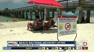 Beach bacteria advisory lifted for Naples Pier Beach - Video