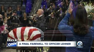 1025 National Anthem Lehner Funeral - Video